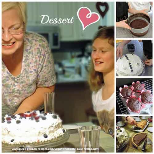Vegan chocolate cake recipe (reminiscent of my German marble cake) & turn it into a chocolate birthday cake ❤️ Recipe: https://www.quick-german-recipes.com/vegan-chocolate-cake-recipe.html