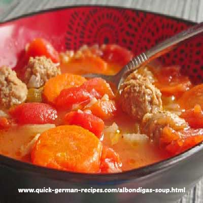 Albondigas Soup - Mexican meatball and rice soup