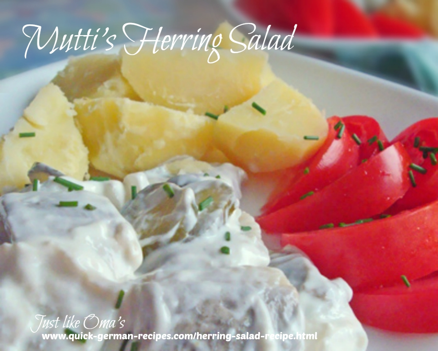 My Mutti made the BEST herring salad and it's so easy!