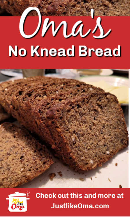 ❤️ German Sourdough Bread -- no kneading required! Add almost anything to make it as healthy as you want. Oma's own recipe!