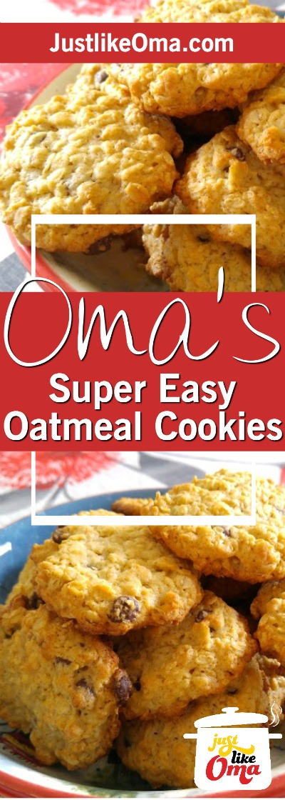 Simple Oatmeal Cookie Recipe Made Just Like Oma