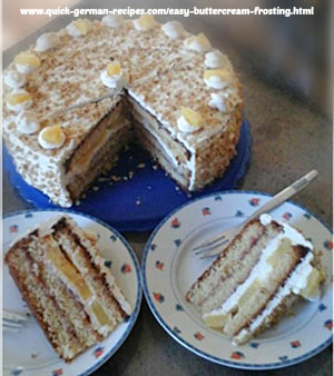 Karin's Pineapple Buttercreme Cake