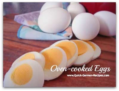 German food recipes: oven cooked eggs