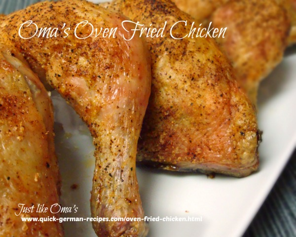 Oma's Oven Fried Chicken