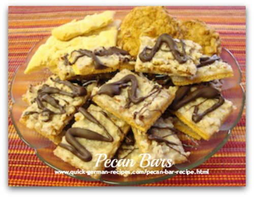 German Desserts: Pecan Bars