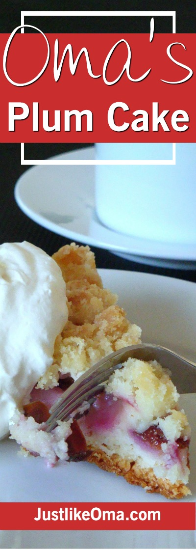 Yummy Plum Streusel Cake ... just like Oma made, with a super easy recipe.