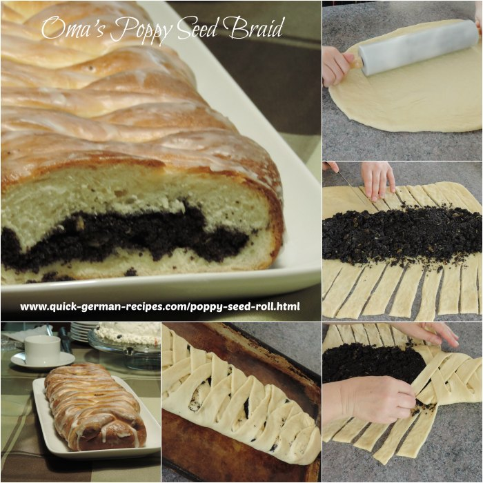 Oma's poppy seed roll is so easy to make. Use your bread machine to whip up ... and ENJOY! ❤️ https://www.quick-german-recipes.com/poppy-seed-roll.html