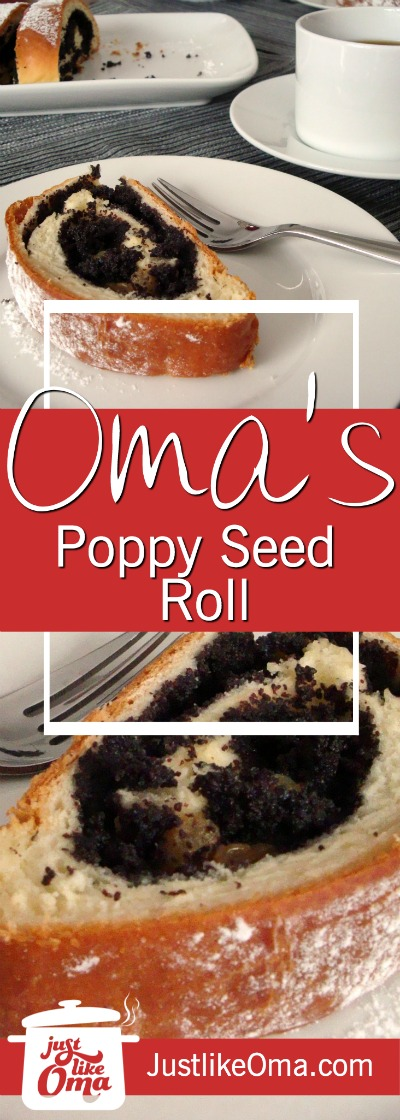 Oma's poppy seed roll is so easy to make. Use your bread machine to whip up ... and ENJOY! ❤️ http://www.quick-german-recipes.com/poppy-seed-roll.html
