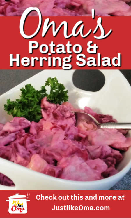 ❤️ German Potato and Herring Salad. Perfect for buffets looking so pretty in pink!