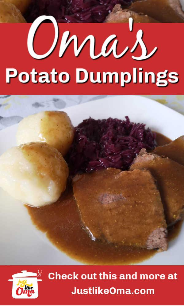 YUMMY! German Potato Dumplings!