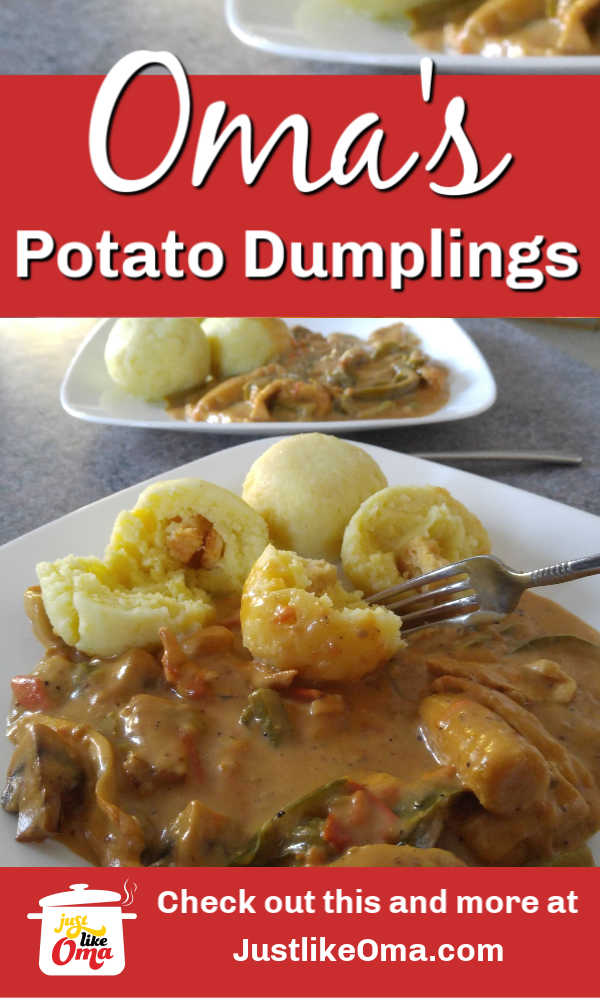 German Potato Dumplings made just like Oma!