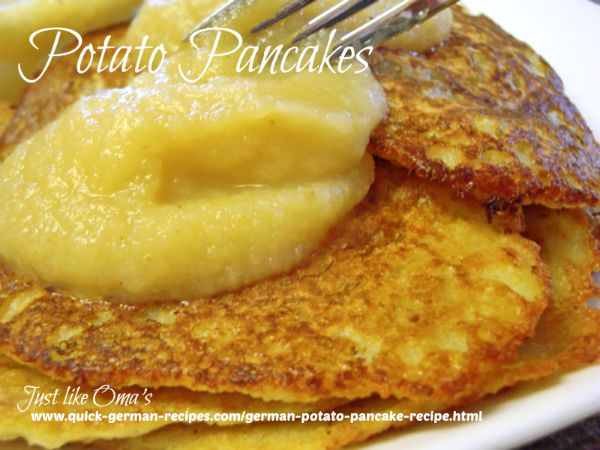Potato Pancakes - the traditional potato pancake