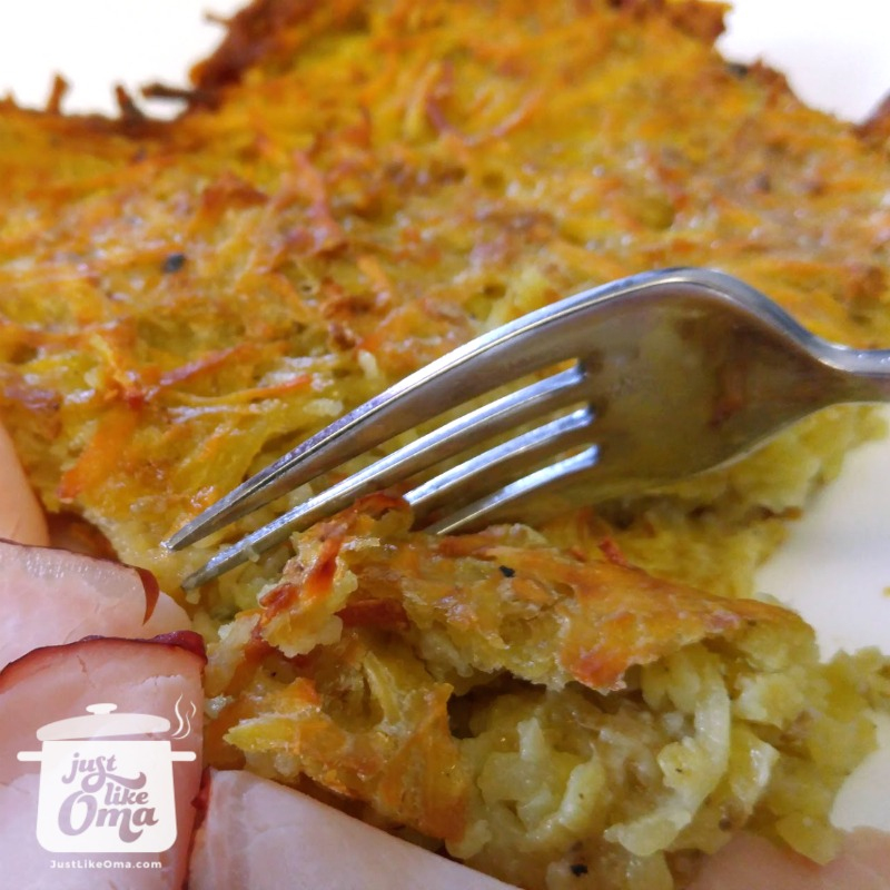 potato pancakes recipe made in the oven just like oma baked potato pancake ccuart