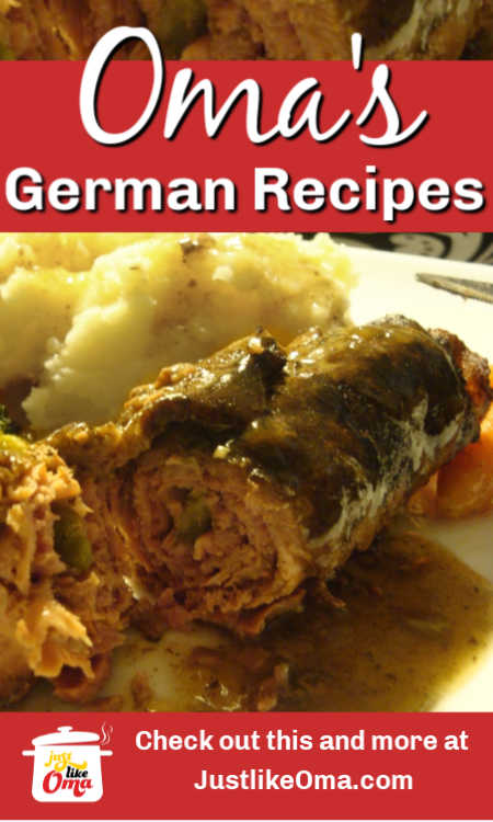 Traditional German dinner recipes, like mouthwatering Rouladen, Schnitzel, and so much more, made just like Oma