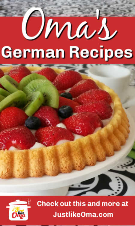 Make traditional German desserts, just like Oma to go along with your authentic German dinner meals!