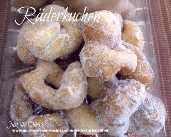 Räderkuchen - little donut-style treats