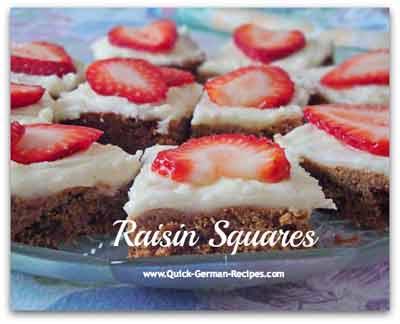 Raisin Squares - fruitcake taste