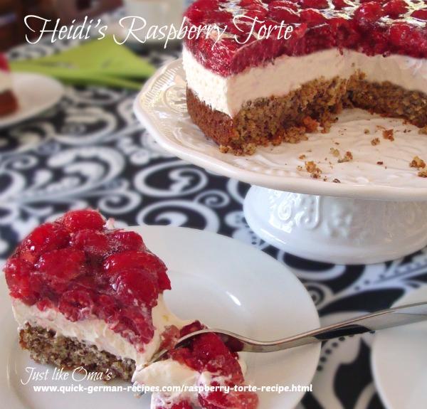 German Raspberry Torte