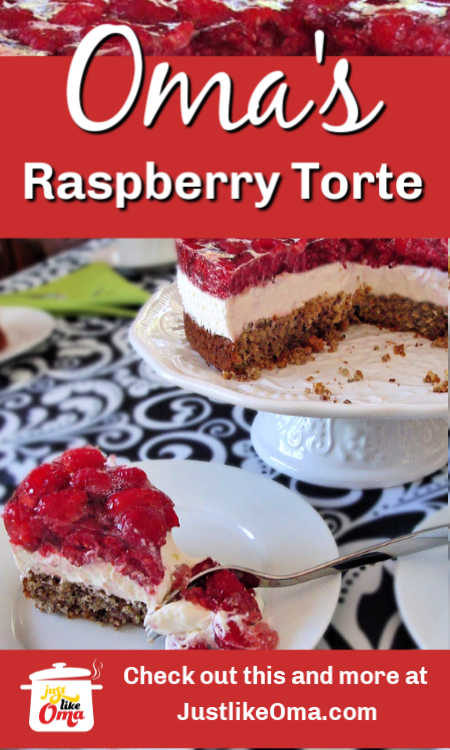 ❤️ Wonderfully easy Raspberry Torte ... so pretty and so delicious.