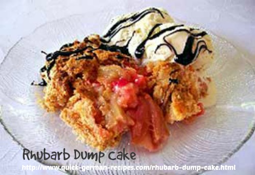 Rhubarb Dump Cake - so non-German. so good!