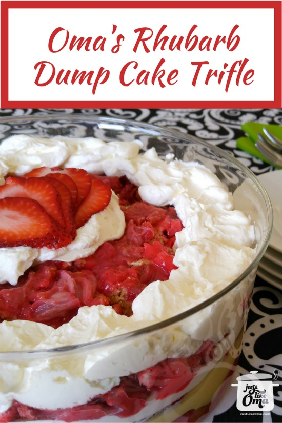 Absolutely delicious Rhubarb Dump Cake Trifle ... perfect springtime treat!