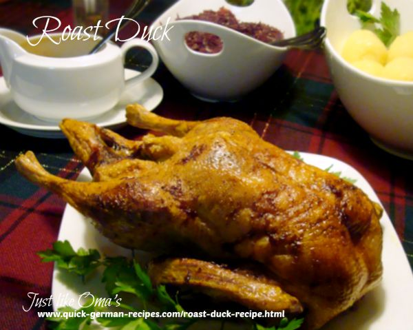 German Roast Duck
