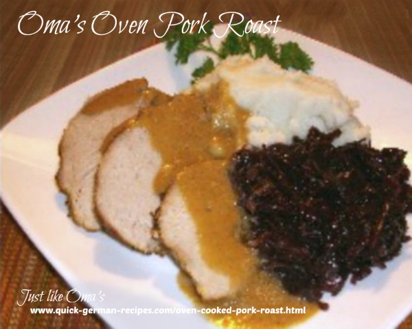 Oma's Oven Pork Roast