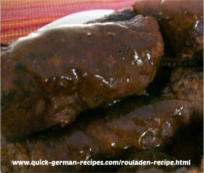 German Meat Recipe: Rinderrouladen