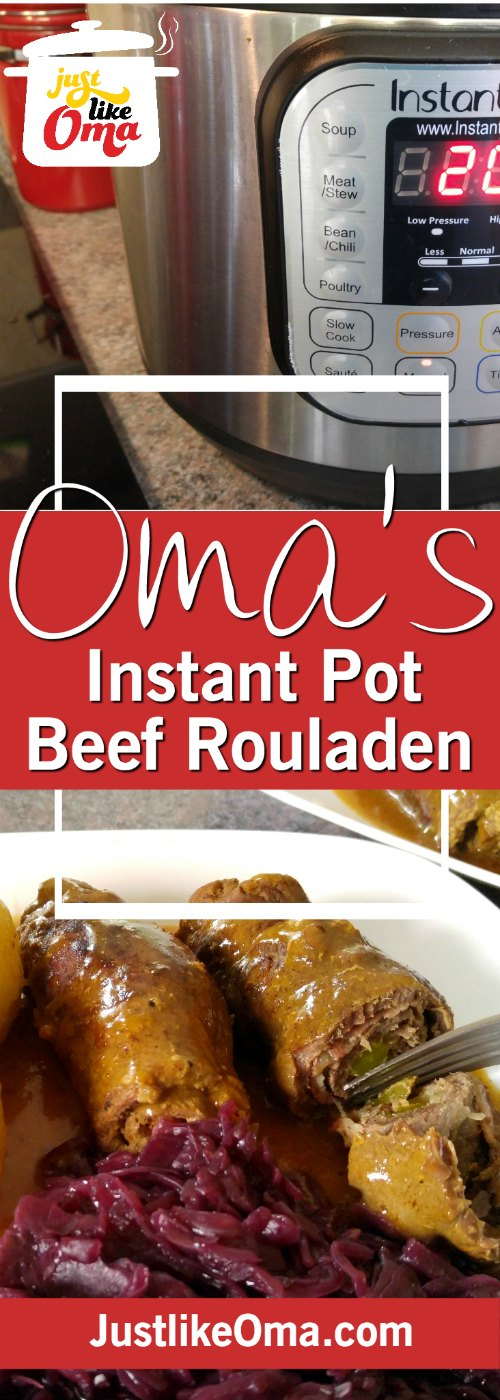 A delicious beef rouladen recipe from Germany using a pressure cooker (Instant Pot) and made just like Oma❤️ Recipe: http://www.quick-german-recipes.com/rouladen-recipe.html