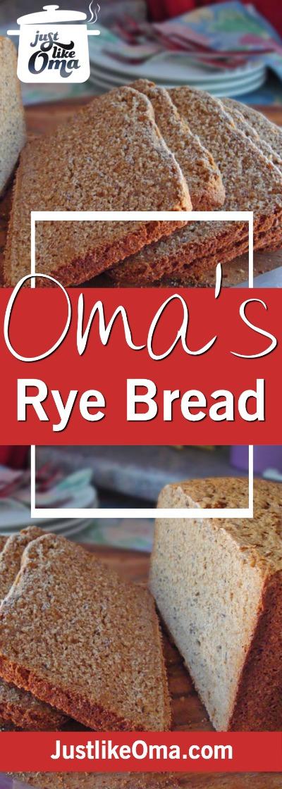 German rye bread using a bread machine. How easy is that! ❤️ #homemadebread #ryebread #germanrecipes #justlikeoma #germanbread https://www.quick-german-recipes.com/rye-bread-recipe.html