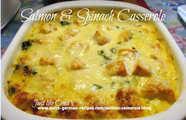 salmon and spinach casserole
