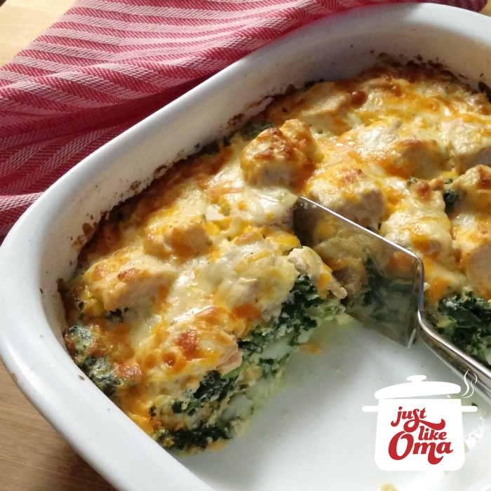 Salmon Casserole with Spinach & Potatoes