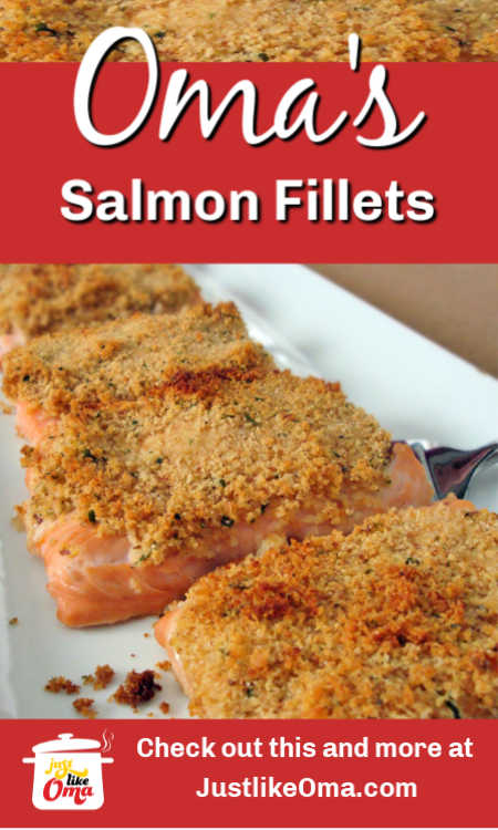Baked Salmon Fillets with a crispy topping that's so delicious.