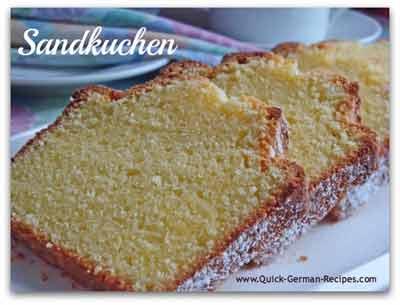 Pound Cake - traditional German Sandkuchen