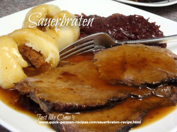 Sauerbraten ... made in your slow cooker