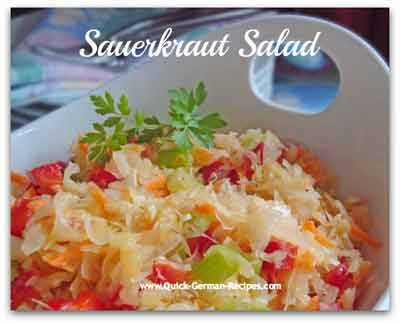 German Salad Recipe: Sauerkraut Salad