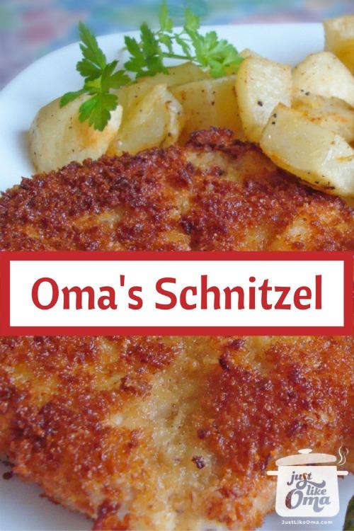 German Schnitzel with potatoes