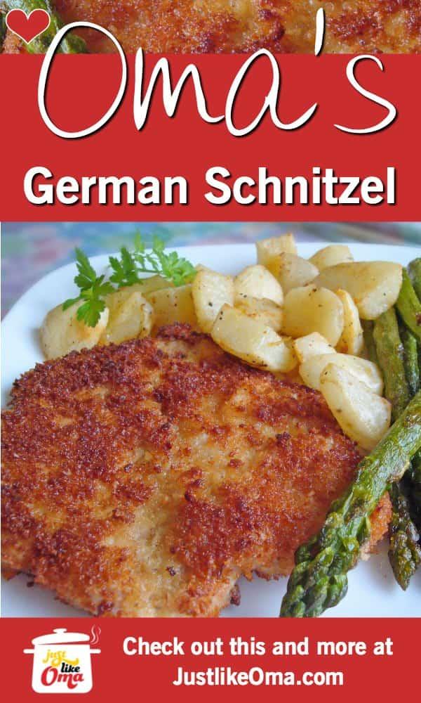 ❤️ Oma's German Pork Schnitzel including a Jägerschnitzel Sauce for those who love mushrooms #schnitzel #justlikeoma #germanrecipes https://www.quick-german-recipes.com/german-schnitzel-recipe.html