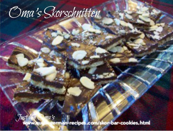 German Christmas Baking: skor bars