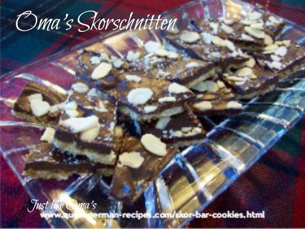 German Christmas Baking: skor bars