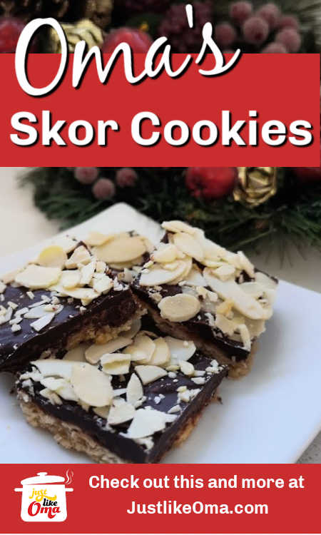 Skor Bar Cookies (Chocolate Toffee Bark) are such a delicious treat, not just at Christmas, but anytime of the year. So easy to make. So good!