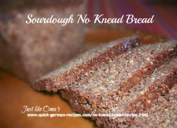 ❤️ No Knead Sourdough Bread ... so easy and SO healthy! #germanbread #germanrecipes #justlikeoma https://www.quick-german-recipes.com/no-knead-bread-recipe.html