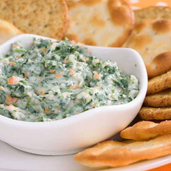 Spinach Dip - put this in a hollowed-out pumpernickel bread