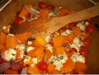 Butternut Squash, Baked with Tomatoes - and blue cheese