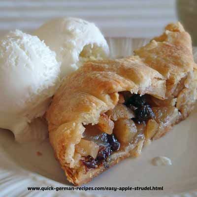 Easy apple Strudel ? Really? YES! Here's an easy recipe that really ...