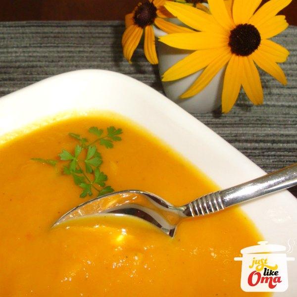 Sweet Potato Soup - non-German creamy deliciousness