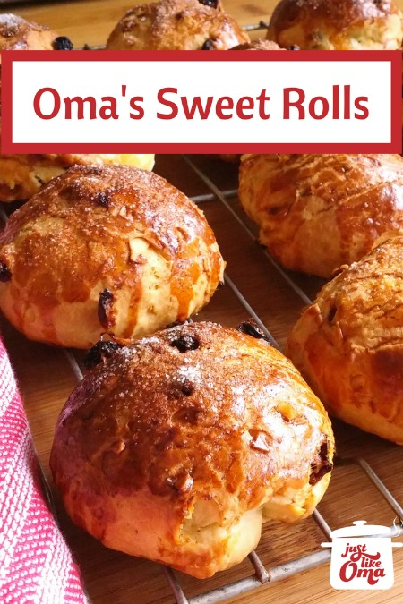 German sweet rolls with raisins