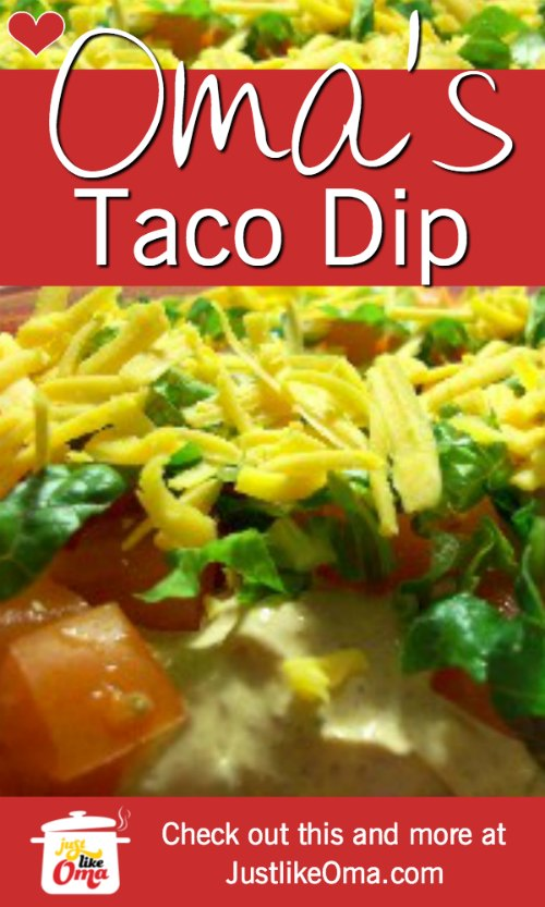 ❤️ Layered Taco Dip Recipe  https://www.quick-german-recipes.com/layered-taco-dip-recipe.html #tacodip #justlikeoma