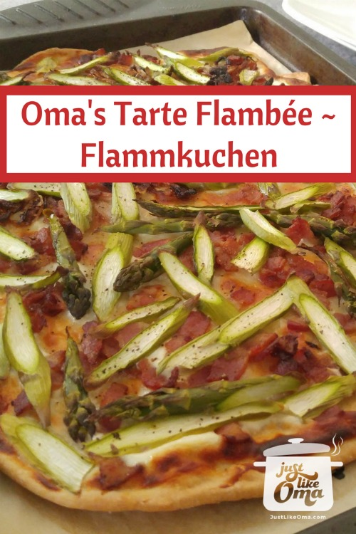 Oma's Tarte Flambèe ~ Flammkuchen ... a type of German pizza.
