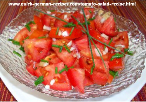 Tomato Salad - traditional summer-time treat